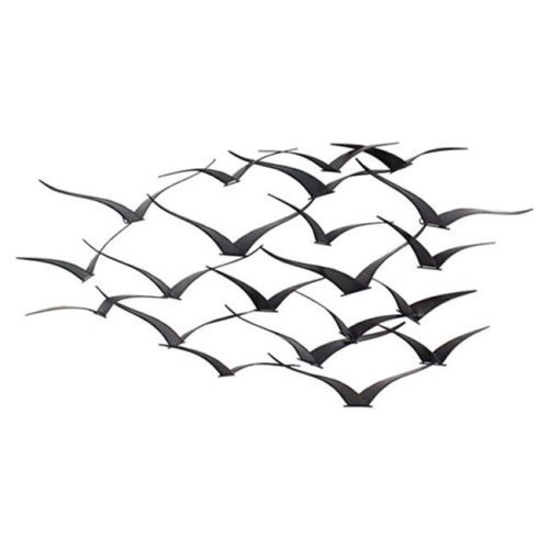 Aspire Home Accents 8605 Darla Metal Birds Wall Decor, Dark Antique Brown