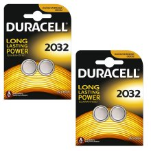 Duracell CR2032 Lithium Coin Cell Batteries 2032 DL2032 3V Battery 4 Pack