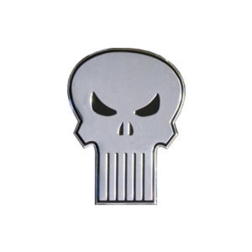 Sticker - Marvel - Punisher - Skull on Silver Metal 6cm New Toys s-mvl-0009-m