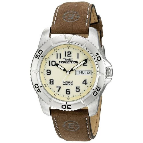 Timex Expedition Quartz Traditional Watch with Off-White Dial Analogue Display