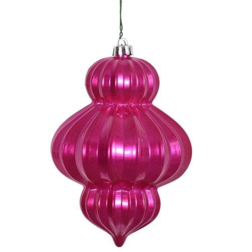 Vickerman N151809DCV Orchid Candy UV Drilled Lantern Ornament - 6 in. - 3 Per Bag