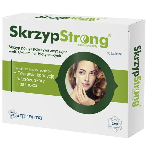 SkrzypStrong 30 tab witamina C B1 cynk i biotyna lisci pokrzywy olimp