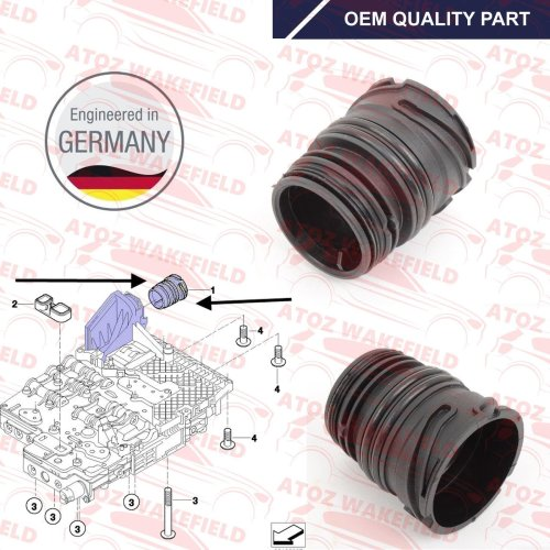 FOR BMW JAGUAR AUTOMATIC TRANSMISSION GEARBOX SUMP MECHATRONIC SLEEVE HOUSING