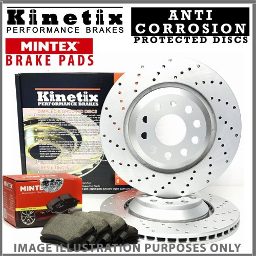 For Audi A3 8P1 S3 Quattro 265HP -12 Front Drilled Brake Discs Pads 345mm