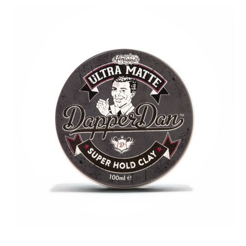 """Dapper Dan Ultra Matte Clay, Hair Styling For Men, Offering Immediate Grip & Hold Combined With A Long Lasting, """"ULTRA MATTE"""" Finish 1 x 100 ml"""