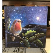 The Rising Moon Greetings card by hannah willow