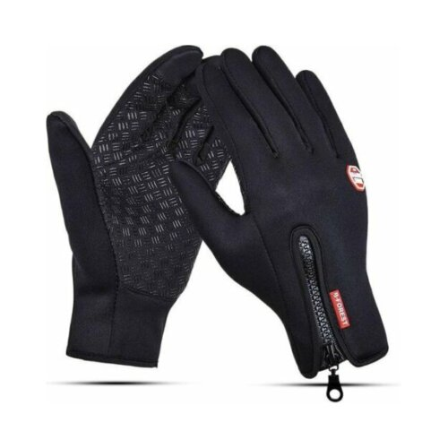 Bike Gloves Black Touchscreen Waterproof Cycling Ski Windproof Black Warm Gloves
