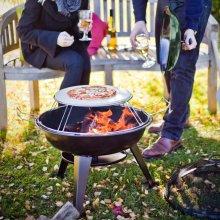 BBGRILL Outdoor Pizza Grill 56x61cm Garden Yard Patio Barbecue Roaster Burner
