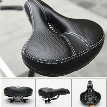 Dual-spring Bicycle Wide Big Bum Soft Extra Comfort Saddle Seat Pad