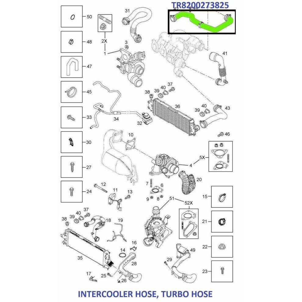 INTERCOOLER TURBO HOSE FOR NISSAN PRIMASTAR VAUXHALL OPEL VIVARO 1.9 CDTI