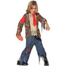 Boys Childrens Zombie Suit Halloween Fancy Dress Costume 7-9 years