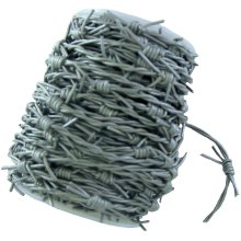 Silver /Grey Leather fake Barbed Wire