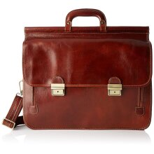 48x33x14 cm - Leather Briefcase - Made in Italy