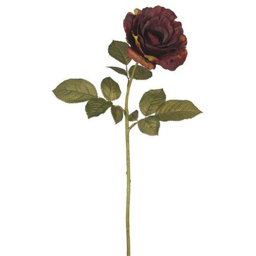 Vickerman FA174302 Autumn French Rose Floral Stem, Dark Burgundy - Pack of 3