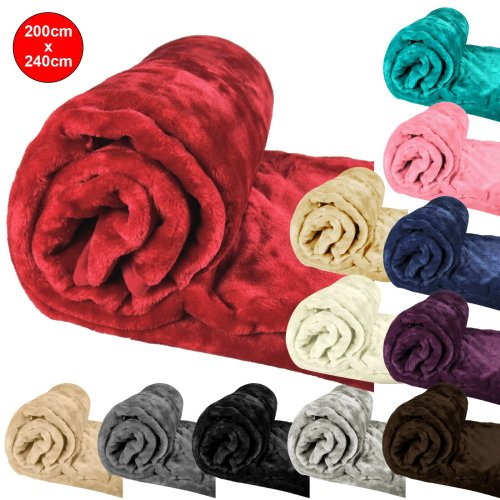 Luxury Super Soft Plush Large Throw Blanket Faux Fur Sofa Cover Warm 200x240cm