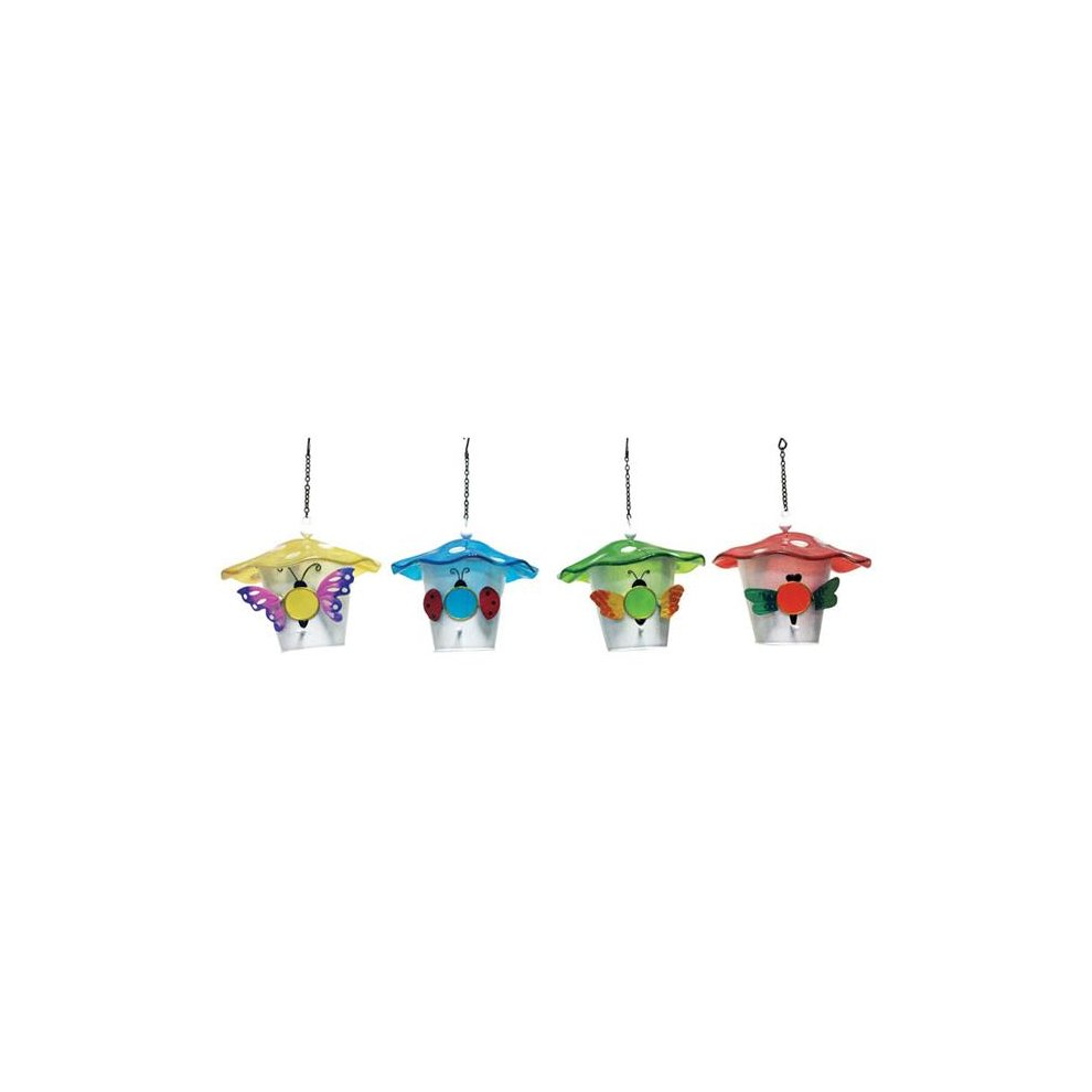 Infinity 8523615 15 In Metal Glass Bird House Pack Of 4 On Onbuy