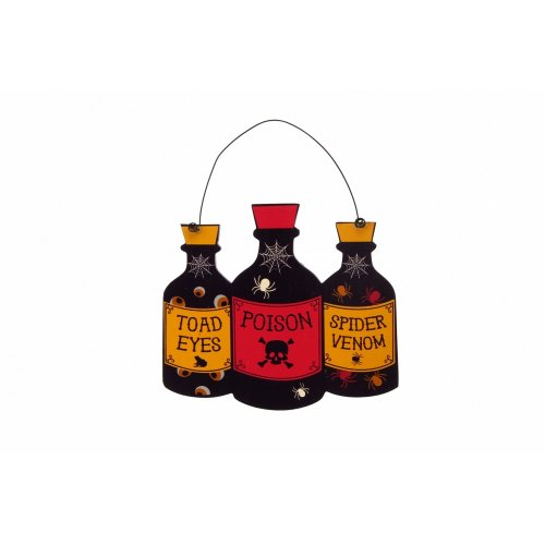 CGB Giftware Haunted House Poison Bottles Wall Sign