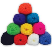 Coloured Double Knit Knitting Wool Yarn (Pack of 10 x 100g balls)