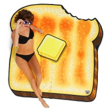 Beach towel toast buttered toast towel beach blanket toast cloth sheets about 156 x 156 cm Size