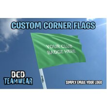 Personalised football corner flags (4 Flags only)