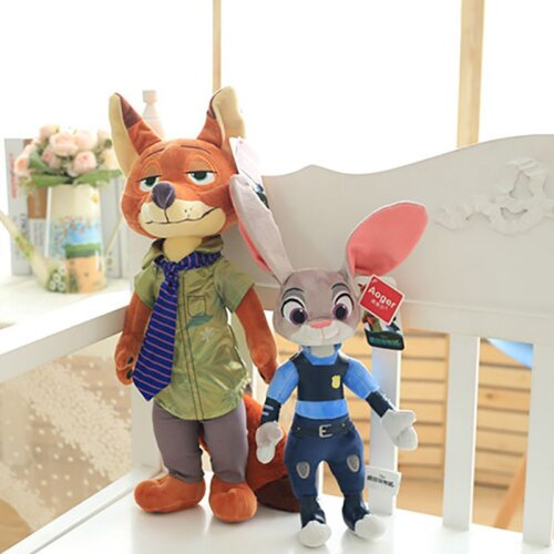 Zootopia Judy Nick Rabbit Fox Plush Toy Kids Gift