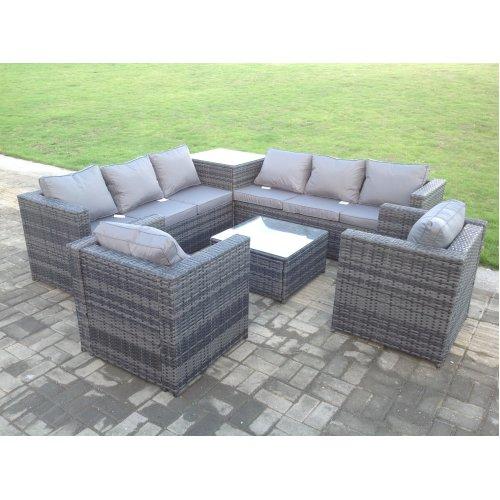 Garden Furniture Outdoor Corner Sofa Patio Indoor Rattan Dining Set