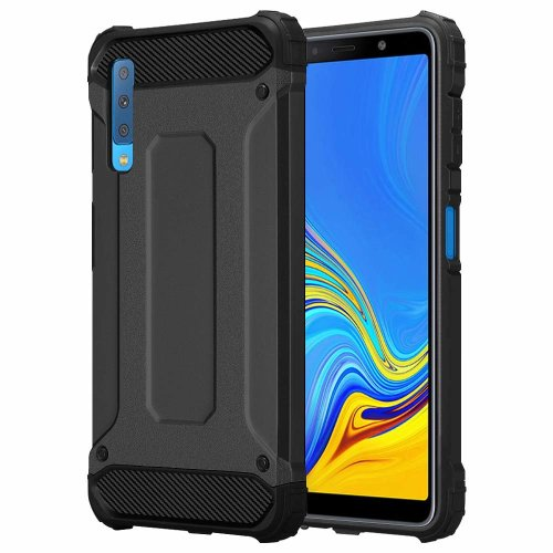 For Galaxy A7-2018 Rugged Armor Shockproof Case