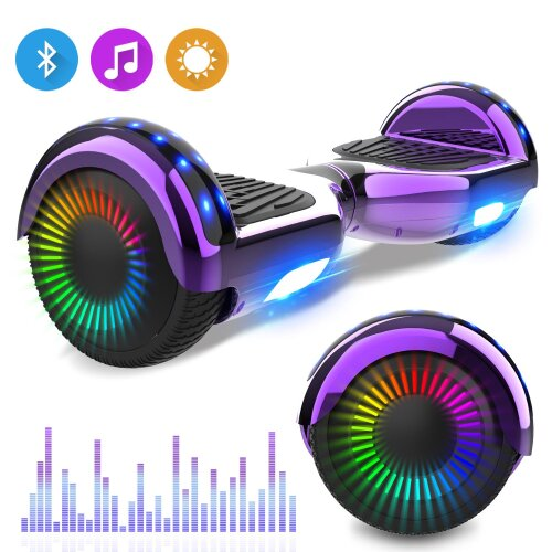 XP5ZT Right Choice Original Hoverboard New Style Segway with Bluetooth Speaker LED Wheel
