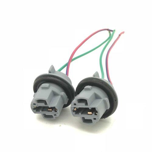 Pre-Wired 582 T20 7440 W21W Bulb Socket Holders LED Repair Indicator Fog Japan