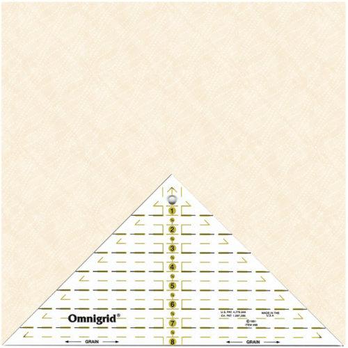 "Omnigrid Quarter Square Triangle 8""-Up To 8"" Diagonal"