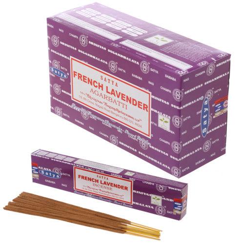 Satya Nag Champa Incense Sticks - French Lavender - Set of 12