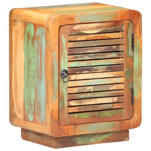 vidaXL Bedside Cabinet Solid Reclaimed Wood Wooden Nightstand Side Storage