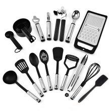 24 Piece Cooking Set Kitchen Gadget Tool Non-stic Handles Spatula