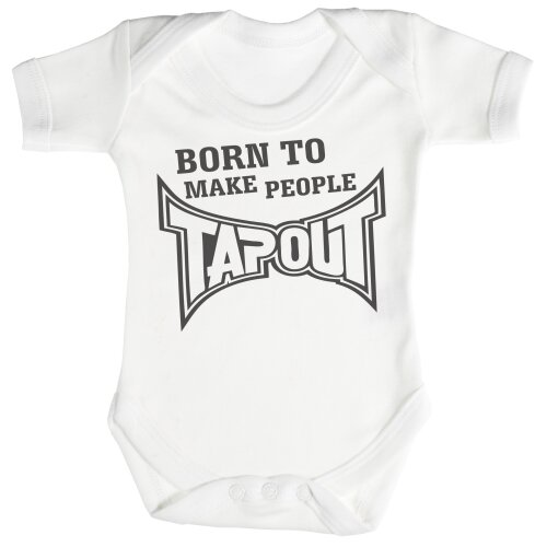 Babygrow Born To Make People Tap Out Baby Bodysuit