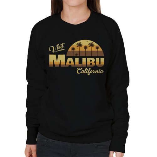Visit Malibu Retro California Women's Sweatshirt