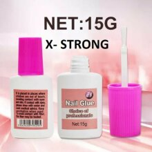 15g Nail Glue With Brush  EXTRA STRONG  Professional False Nail Tips