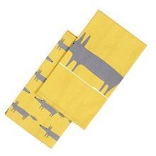 Scion Mr Fox Set of 2 Tea Towels Dish Towels Yellow