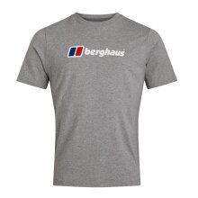 Berghaus Big Classic Logo Mens Short Sleeve Outdoor T-Shirt Tee Grey