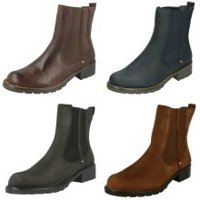 Ladies Clarks Chelsea Pull On Boots Orinoco Club - D Fit