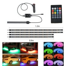4X 90+120cm LED Neon Strip Light Kit Under Car Tube Underglow Atmo