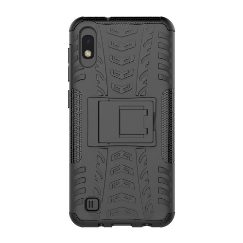 Slim Armour Shockproof Case Cover Stand + LCD Guard for Samsung Galaxy A10