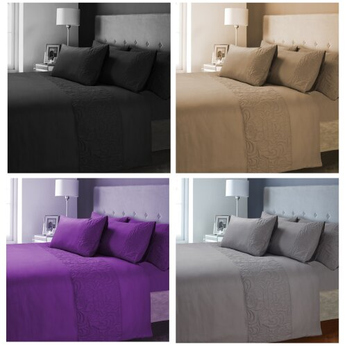 Luxury Damask VENEZIA Embossed Quilted Duvet Pillow Cover