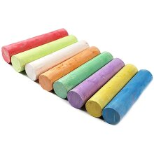 Colored Chalks For Blackboards Board Floor Chalk Sticks 12 pcs