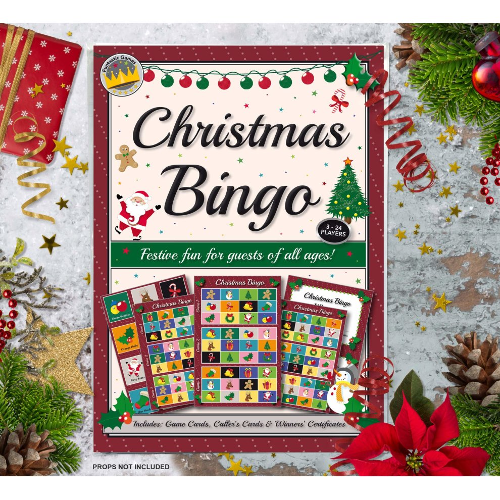 Christmas Party Bingo Game Fun Games For Family Office And Kids Xmas Parties With Free Certificates Ideal Novelty Gift Idea For Adults Groups Game On Onbuy