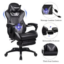 ELECWISH Gaming Chair Recliner Gaming Chair Office Chair with Footrest