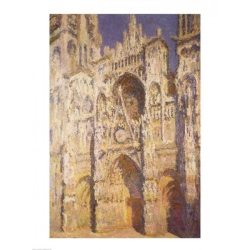 Rouen Cathedral in Full Sunlight Harmony in Blue & Gold 1894 Poster Print by Claude Monet - 18 x 24 in.
