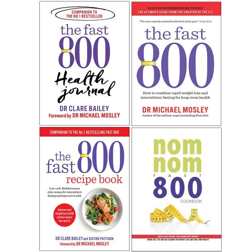Fast 800 Health, Fast 800, 800 Recipe, Nom Nom 4 Books Collection Set