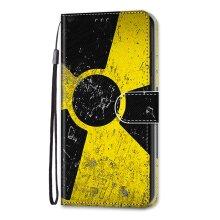 Samsung Galaxy A12,M12 Case Pattern Cover Folio with kickstand Radiation