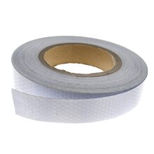 Self-Adhesive Reflective Safety Warning Conspicuity Tape Silver 2.5cmx25m