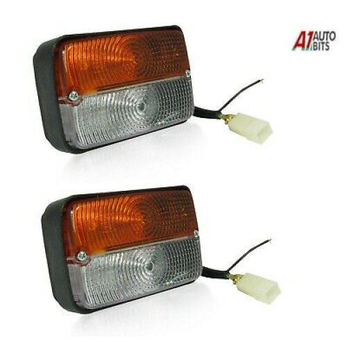 2x Front Side Tractor Combination Lights For Massey Ferguson 240,250,253,265,275